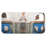 Boy standing in front of class reading in iPhone 5 case