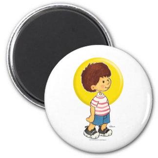Boy Standing 6 Cm Round Magnet