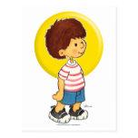 Boy Standing Postcard