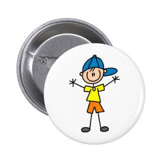 Boy Stick Figure Button
