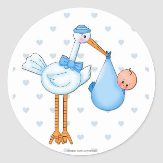 Boy Stork Sticker