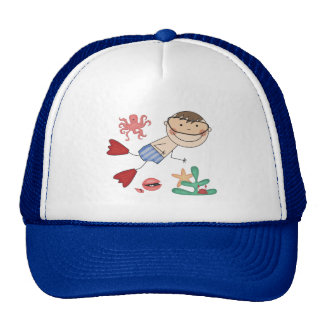 Boy Swimming T-shirts and Gifts Mesh Hat