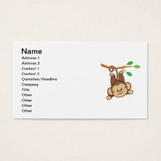 Boy Swinging Monkey Business Card