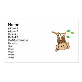 Boy Swinging Monkey Business Card Templates