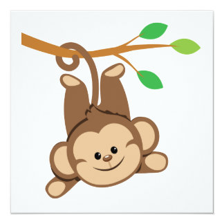Boy Swinging Monkey Card