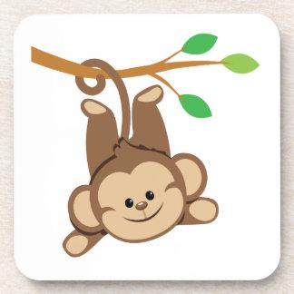 Boy Swinging Monkey Drink Coasters