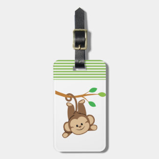 Boy Swinging Monkey Luggage Tag