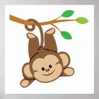 Boy Swinging Monkey Poster
