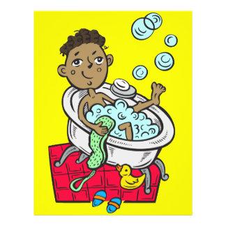 Boy Taking Bath 21.5 Cm X 28 Cm Flyer