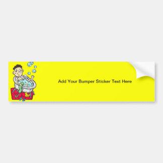 Boy Taking Bath Bumper Sticker