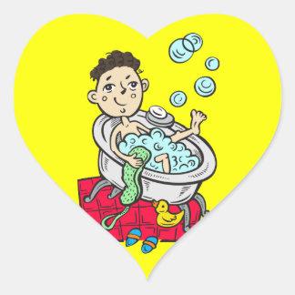 Boy Taking Bath Sticker