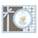 Boy Teddy Bear Advice Card 11.5 Cm X 14 Cm Flyer