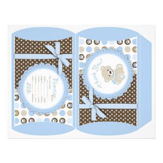 Boy Teddy Bear Puff Box 21.5 Cm X 28 Cm Flyer