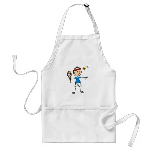 Boy Tennis Player tshirts and Gifts Apron