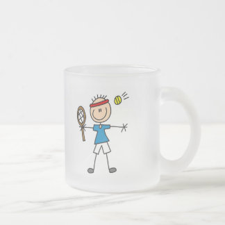 Boy Tennis Player tshirts and Gifts Frosted Glass Mug
