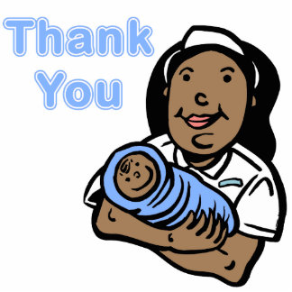 Boy thank you nurse acrylic cut out