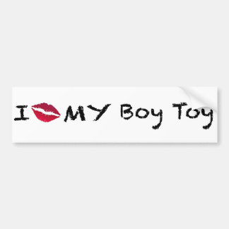 Boy Toy Car Bumper Sticker