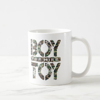 BOY TOY For Hire - Available For Sugar Daddy, Camo Basic White Mug