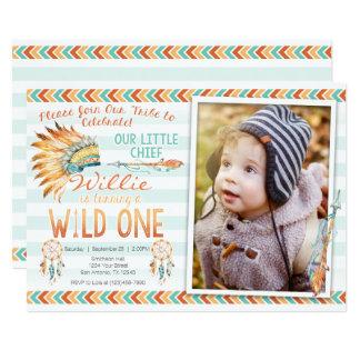 Boy Tribal Boho 1st Wild One Birthday Invitation
