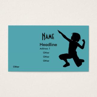 Boy Tumbler  on Edge Business Card
