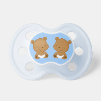 Boy Twins Baby Bear Dummy