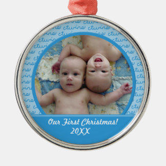 Boy Twins First Christmas Ornament