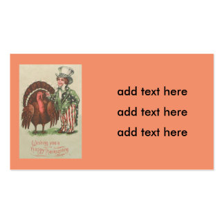 Boy Uncle Sam Thanksgiving Turkey Pack Of Standard Business Cards