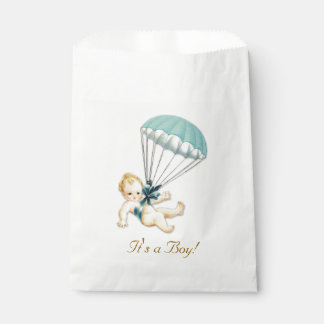 Boy Vintage Baby Shower Favour Bags