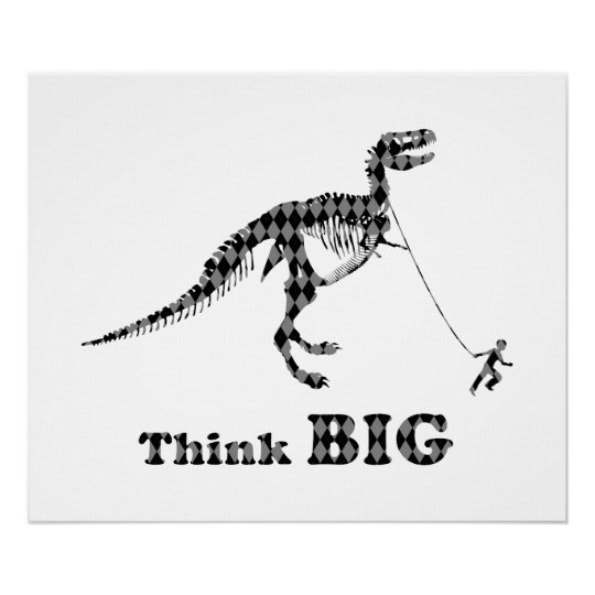 Boy Walking A Tyrannosaurus Rex ~ Think Big