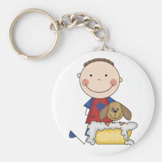 Boy Washing Dog Tshirts and Gifts Keychains