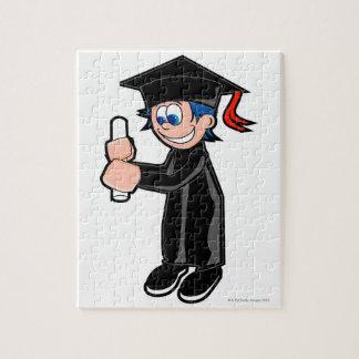 Boy wearing a graduation gown jigsaw puzzle