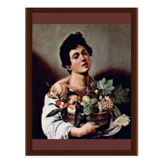 Boy With A Basket Of Fruit By Michelangelo Merisi Postcard