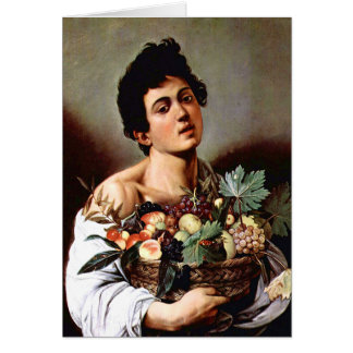 Boy with a Basket of Fruit, Caravaggio Greeting Card