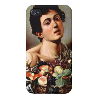 Boy with a Basket of Fruit, Caravaggio iPhone 4/4S Cover