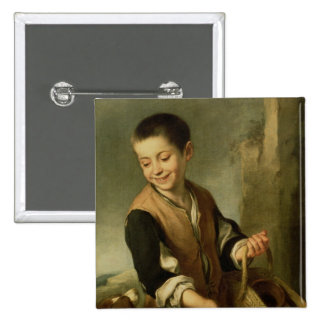 Boy with a Dog, c.1650 15 Cm Square Badge