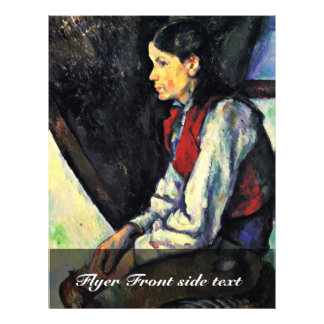 Boy With A Red Waistcoat By Paul Cézanne Flyer