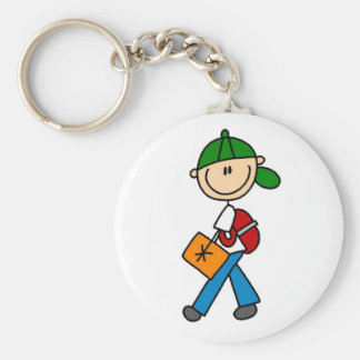 Boy With Backpack Key Ring