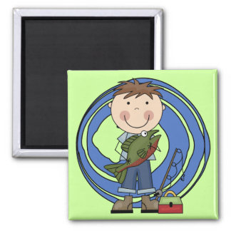 Boy With Fish Tshirts and Gifts Refrigerator Magnets