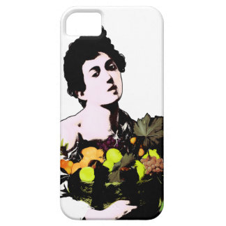 Boy with Fruit Basket  (Add Background Color) iPhone 5 Cases