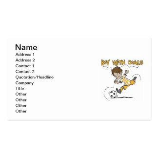 Boy With Goals T-shirts and Gifts Pack Of Standard Business Cards