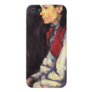 Boy with red vest painting Paul Cezanne fine art Cases For iPhone 5