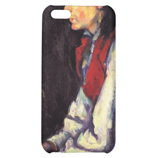 Boy with red vest painting Paul Cezanne fine art Cover For iPhone 5C