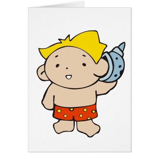 Boy with Seashell Card