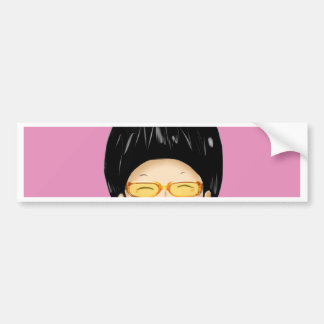 Boy with sunglass bumper sticker