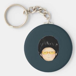 Boy with sunglass keychains
