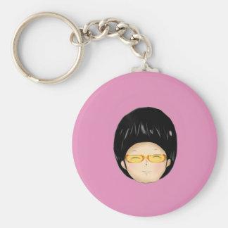 Boy with sunglass key chain