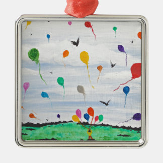 Boy with the balloons christmas ornament