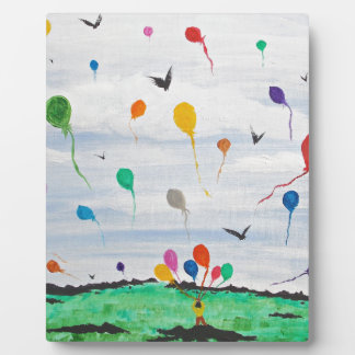 Boy with the balloons plaque
