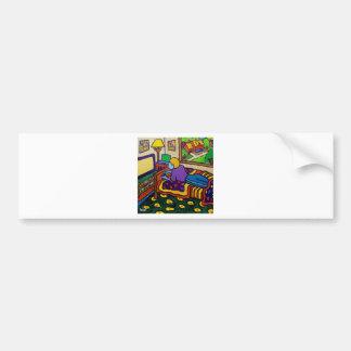 Boy with Toy Bumper Sticker