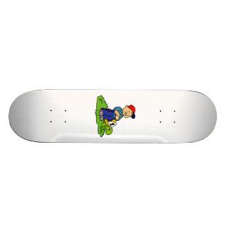 Boy with Turtle Custom Skate Board